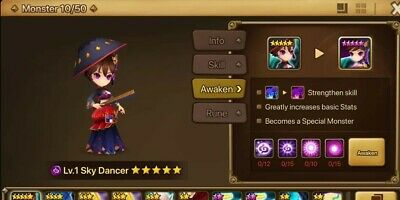 Summoners War Account | GLOBAL & EUROPE | Dark Sky Dancer Starter | Read Desc