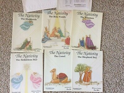 Serendipity Designs Mar-Bek The Nativity Counted Cross Stitch Patterns Set of 6