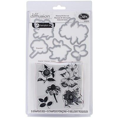 Sizzix Framelits Die Set 5PK w/Stamps - Botanical (CLEARANCE ITEM)