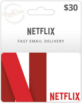 Netflix Gift Card $30 Value   50% DISCOUNT  Email Delivery Within 24 Hours