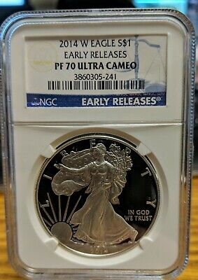 2014-W American Silver Eagle Proof - NGC PF70 UCAM - Early Releases