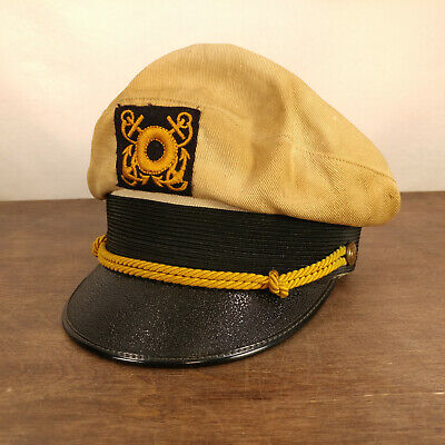 Vtg 1950s 60s Captain's Hat Captain Yacht Skipper Boat Sailor Motorcycle Biker