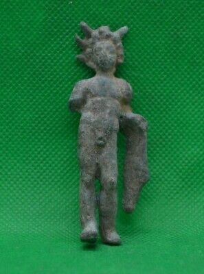 ANCIENT ROMAN BRONZE STATUETTE FIGURINE OF SOL INVICTUS - 100 AD - RARE - 7,8 cm