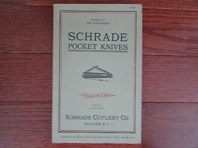 Reprint Schrade Pocket Knives Catalog 1926 Schrade Cutlery Co.