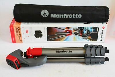 MANFROTTO Compact Action Red Tripod - Excellent