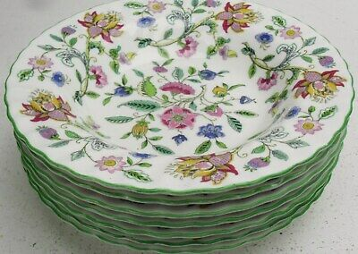 Minton Haddon Hall rimmed soup bowl up to 6 available 1sts