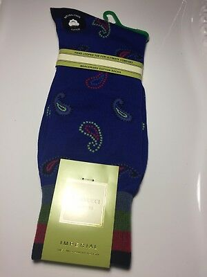 Nwt Mens Vannucci Couture Multi Color Designer Paisley Socks