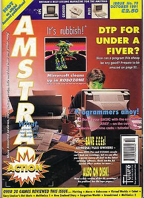 Amstrad Action Magazine Issue 73 - October 1991 - Very Good Condition - Bagged