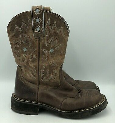 68d0c1b1773 ARIAT PROBABY DRIFTWOOD Brown Western Cowboy Boots Womens Size 8.5B