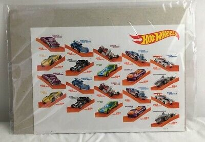 Hot Wheels Sheet of 20 Forever USPS First Class Postage Stamps NIP