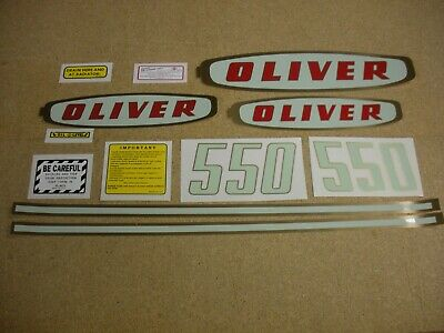 Oliver 550 GAS Tractor Decal Set NEW - FREE SHIPPING