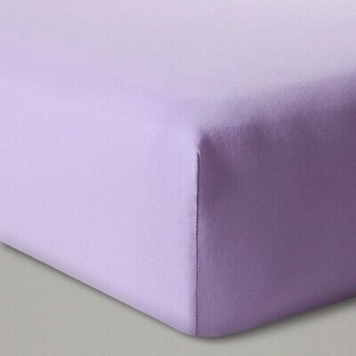 Cloud Island Solid Shy Lavender Purple Fitted Crib Sheet