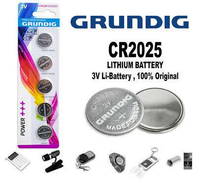 Pila 2025 Boton Bateria Litio Pilas Cr 2025 Grundig Lithium Battery