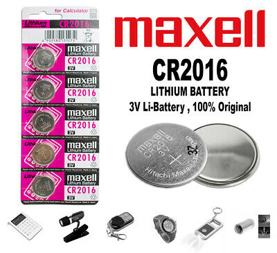 Pilas Pila Boton Maxell Bateria Litio De Calidad Cr 2016 3V Lithium Battery
