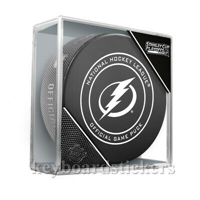 2019 NHL Stanley Cup Playoffs Tampa Bay Lightning Official Game Hockey Puck NEW