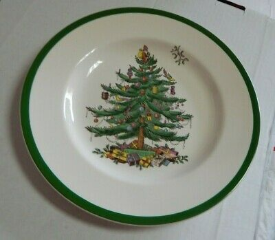 """Spode Dinner Plate Christmas Tree - 10 3/4"""" - Set Of 4 - Made In England"""