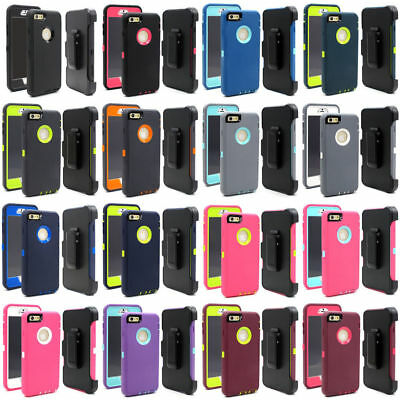 Case For iPhone 8 Plus iPhone 7 Plus Defender Rugged w/ Belt Clip