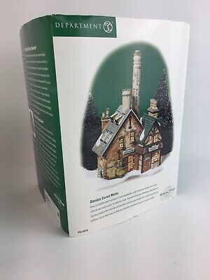 Department 56 Dickens' Village Series Glendun Cocoa Works Christmas Decor In Box