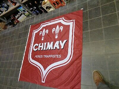Tappist Chimay vlag drapeau reclame beer sign flag fahne peres trappistes not ne