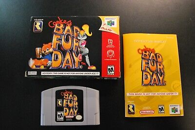 Nintendo 64 Conker's Bad Fur Day w/ Box and Manual