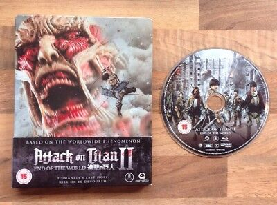 Attack On Titan Ii - End Of The World - Limited Blu Ray Steelbook Rare & Deleted