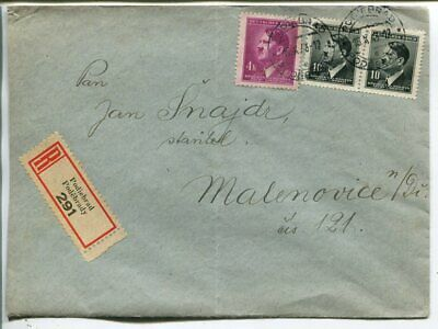 Germany Bohemia and Moravia reg cover 1943
