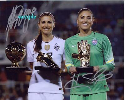 Alex Morgan Hope Solo Reprint Photo 8X10 Signed Autographed Man Cave Gift Soccer
