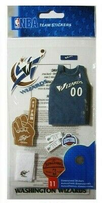 BASKETBALL WASHINGTON WIZARDS Mascot Fan Jersey Play Tickets NBA Team Stickers