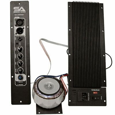 Class AB 200 Watt Plate Amplifier with 3 Band EQ for PA/DJ Full Range Speakers