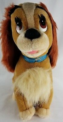 """Large 14"""" Disney Parks Lady and The Tramp Plush Stuffed Toy Cocker Spaniel !"""