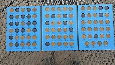 Lincoln Cent Penny Collection 1909 through 1940 In Whitman Coin Folder 1924-D