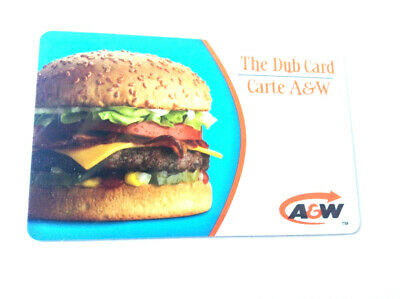 A&W CANADA RESTAURANT GIFT CARD cheese burger 2009 logo NO VALUE RECHARGEABLE