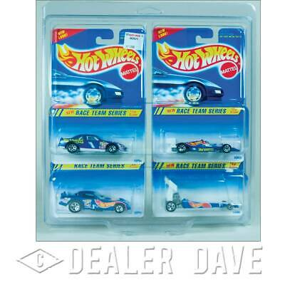 Dealer Dave Hot Wheels RACE TEAM SERIES w/FREE 4-Car Protecto-Pak 1:64