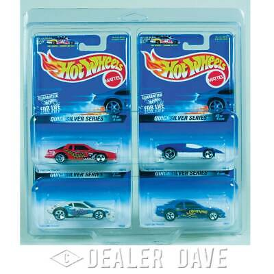 Dealer Dave Hot Wheels QUICKSILVER SERIES  Set w/FREE 4-Car Protecto-Pak 1:64