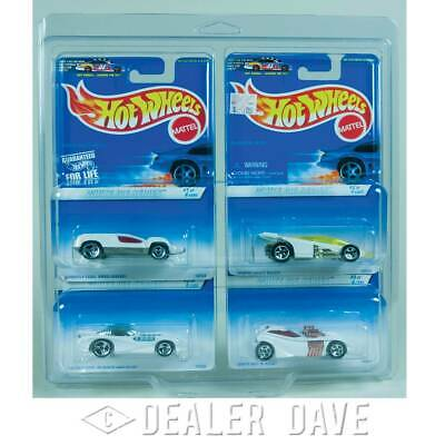 Dealer Dave Hot Wheels WHITE ICE SERIES Set w/FREE 4-Car Protecto-Pak 1:64