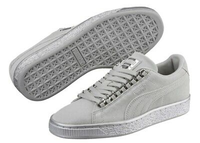 NEW PUMA Suede Classic X-Chain KIDS Girls Boys Sneakers Gray/Silver SELECT SIZE