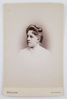 ID'd Cabinet Card Photograph Portrait Of Woman Swarthmore Class Of 1888 PA
