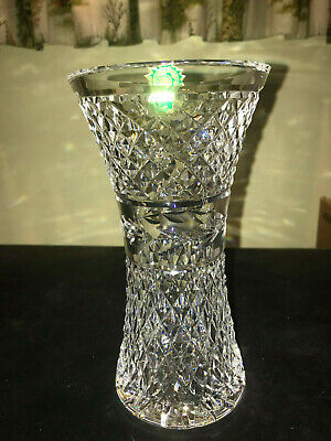 "Waterford Crystal GLANDORE (1983-) Large Belly Vase 8"" Made Ireland Stunning!"