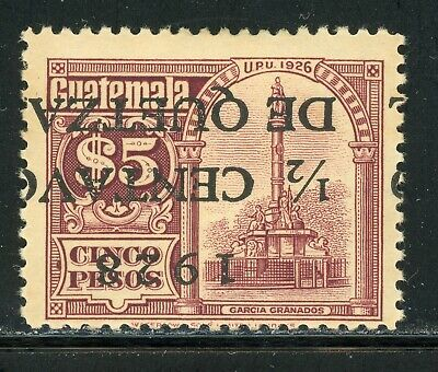 GUATEMALA MH Specialized Selections: Scott #231a ½c/5P INVERTED SCHG $$$