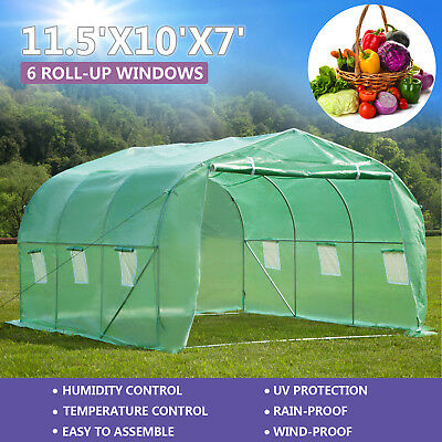 Heavy Duty 11.5'x10'x7' Walk-In Green House Plant Garden Greenhouse
