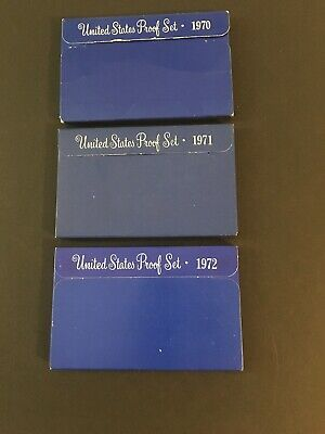 1970, 1971 & 1972 United States Proof Set (15 coins)
