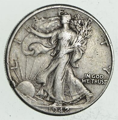 Strong Feather Details - 1942 Walking Liberty Half Dollar *204