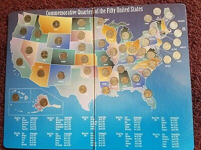 50 US State Quarters Complete Set  1999-2008 - Instant Collection