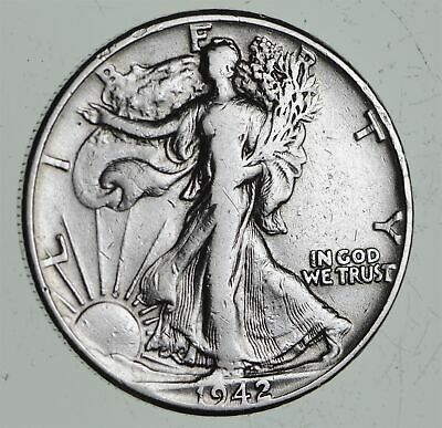 Strong Feather Details - 1942 Walking Liberty Half Dollars - Huge Value *498