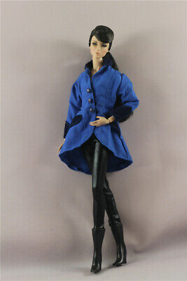 3in1 Fashion royalblue Winter  coat Outfit +Legging+Boot  For 11.5in.Doll