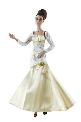 Fashion royal elegant  white lace  Dress Evening Clothes/Gown For 11 inch. Doll
