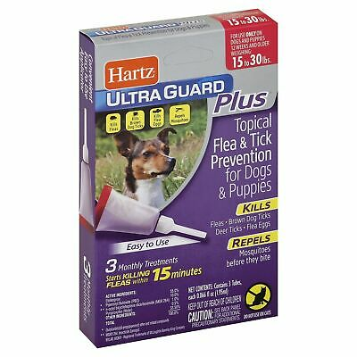 UltraGuard Plus Flea Tick Treatment Drops For Dogs And Puppies 15 to 30 lbs