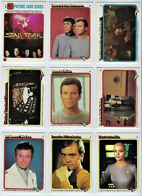 1979 Topps Rainbow Bread STAR TREK Trading Cards Complete Set - 33 Cards