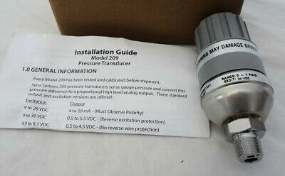 Setra Systems Model 209 Pressure Transducer 100 PSIG 2091001PG2M11A1 $346 New