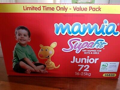 Disposable nappies for Junior 16 - 25kg (72 nappies)